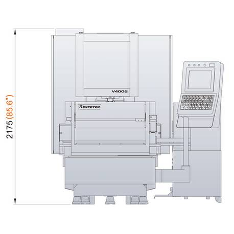 électro érosion à fil 400G dimension